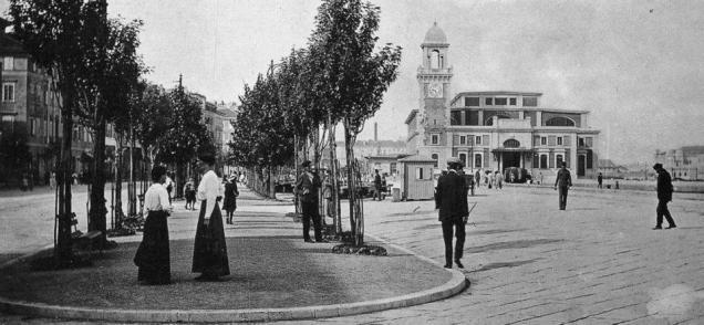 foto d'epoca della Pescheria Grande
