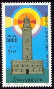 La Lanterna su un francobollo della Somalia